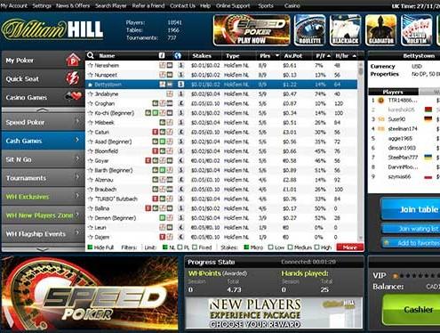 William Hill póker